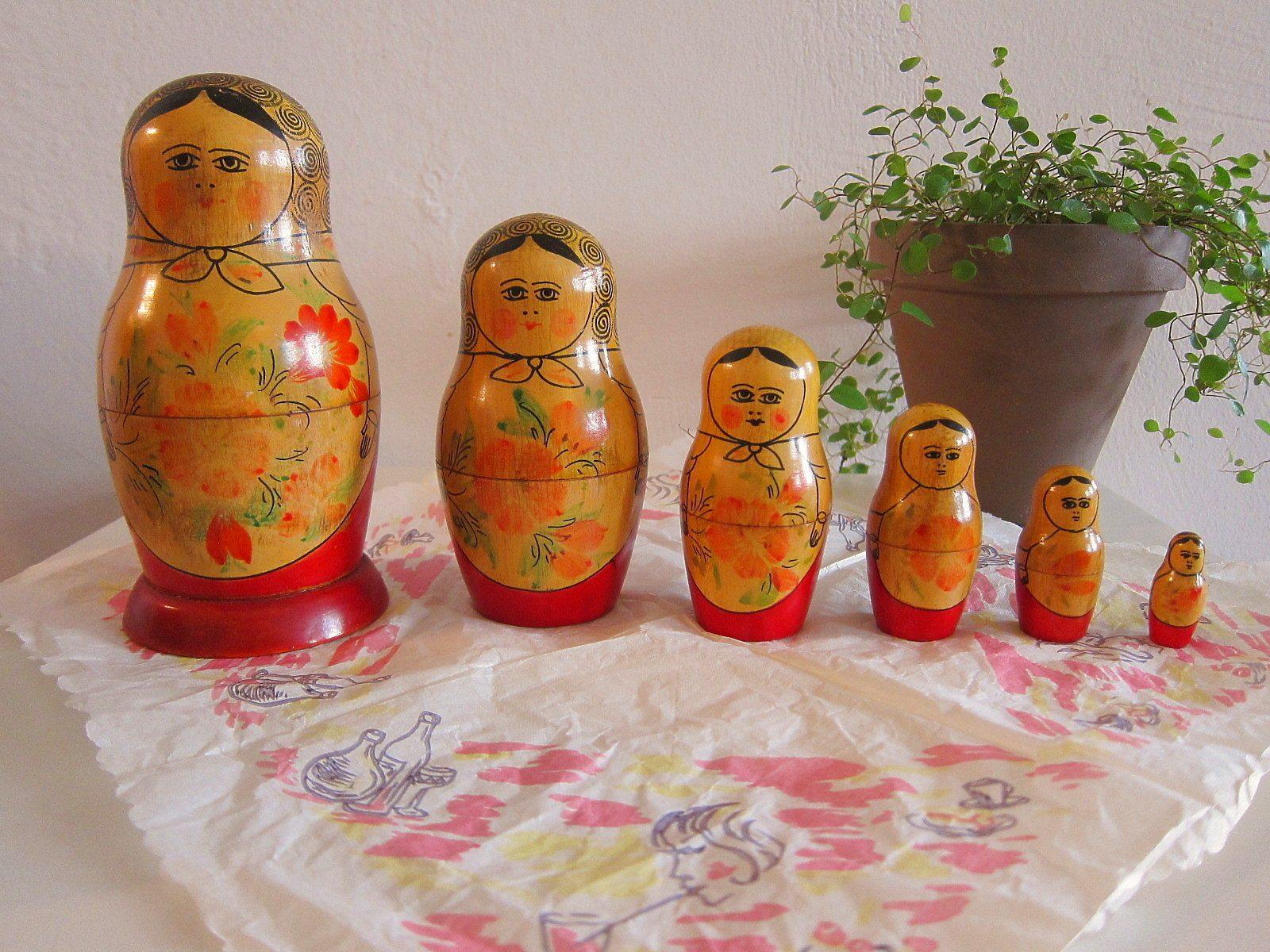 ロシア人形 マトリョーシカ 6個入り