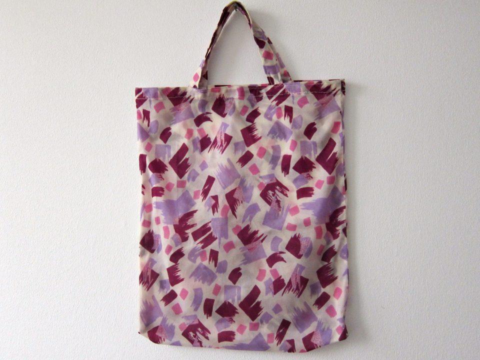 DDR時代のナイロン製手提げ袋-紫色-古着ファッション.jpg