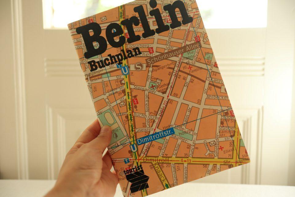 激レアVintage DDR製東ベルリンマップ