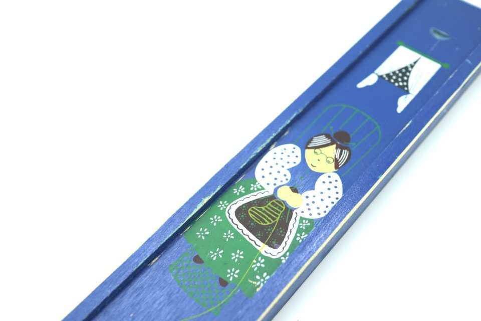 ヴィンテージ編み棒ケース 涼しげなブルー(E)
