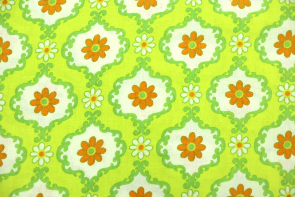 DDRヴィンテージファブリックグリーン系花柄