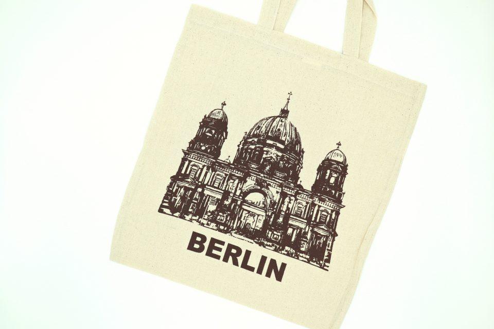 ご当地シリーズ BERLIN 大聖堂モチーフのエコバッグ