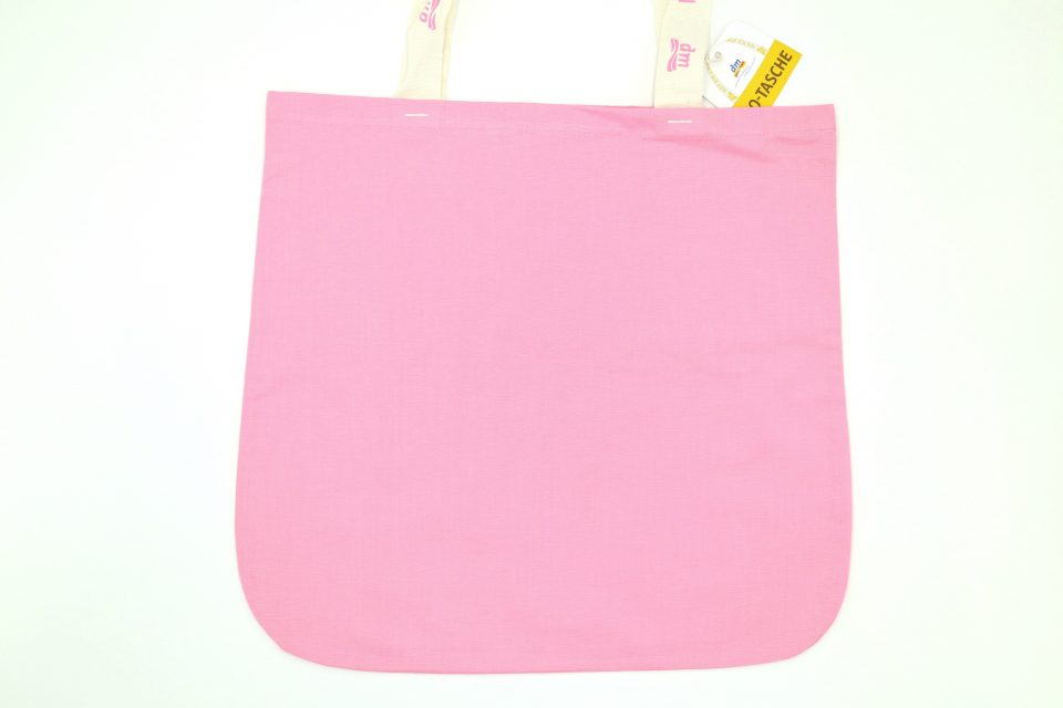 オーガニックコットンエコバッグ dm ドイツ ピンク色-2