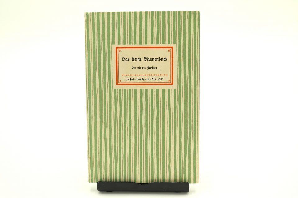 美しい古書 インゼル文庫281番小さな野花の図鑑