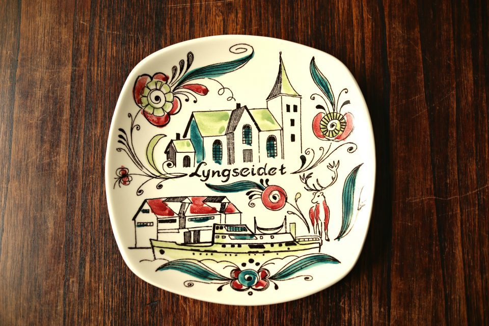 北欧レトロ スタヴァンゲルフリント製陶器の絵皿