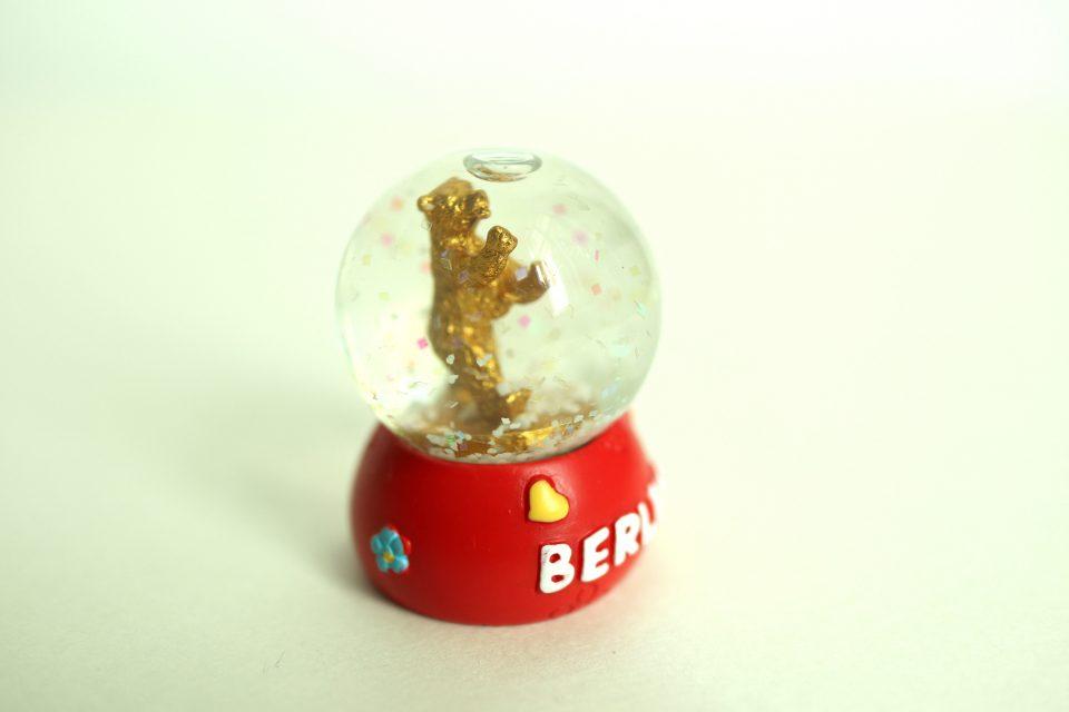ベルリンベアの小さなスノードーム お土産グッズ