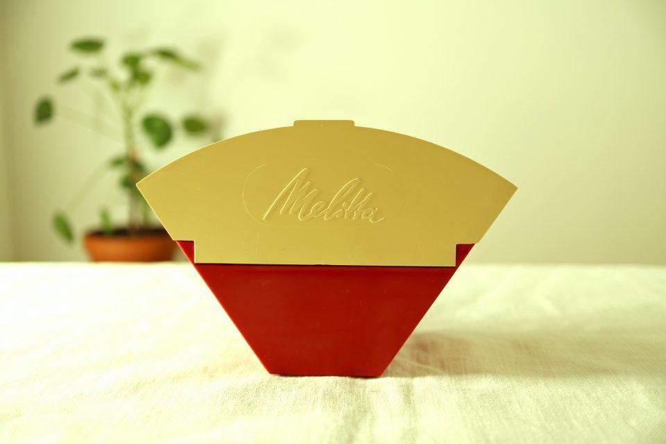 ヴィンテージMelitta コーヒーフィルターケース 赤白