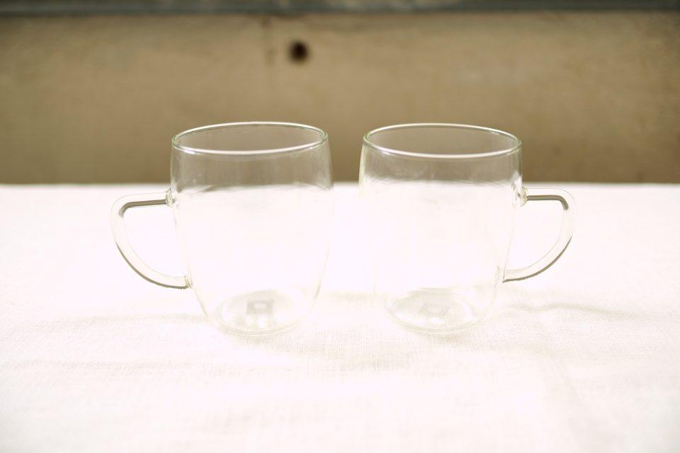 旧西ドイツ製イエナグラスカップ2個セット JENAER GLAS