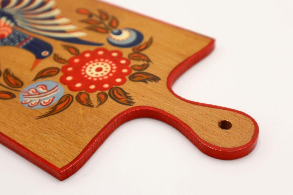 美しい鳥模様のヴィンテージ飾りカッティングボード