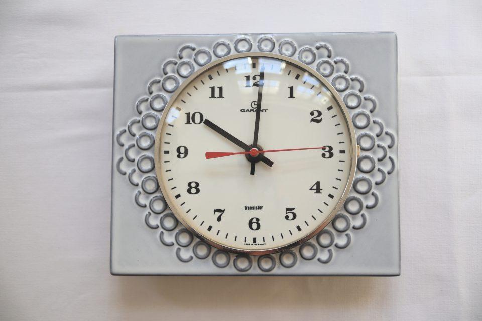 70年代レトロ Garant製セラミック時計