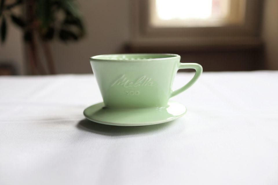 メリタ製パステルグリーンのヴィンテージコーヒーフィルター100