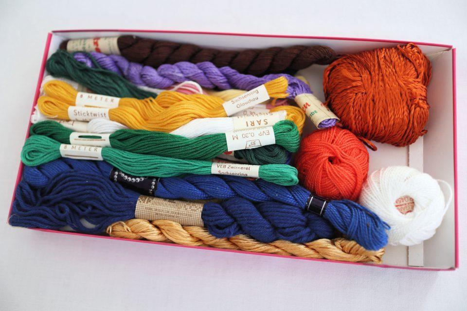 DDR時代のヴィンテージ刺繍糸セット