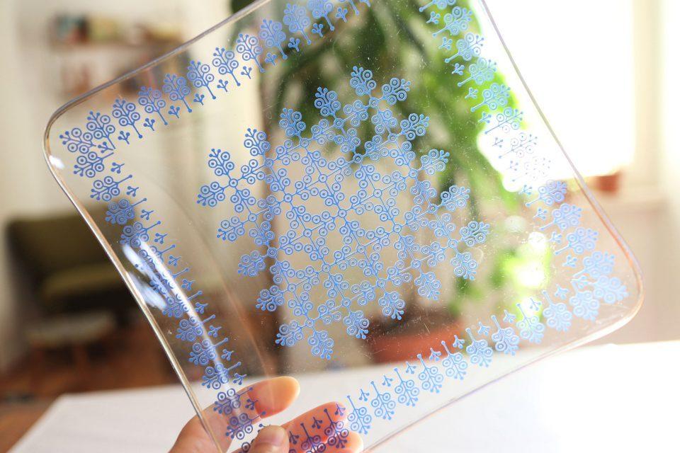 レトロスタイリッシュなガラス製デザート皿