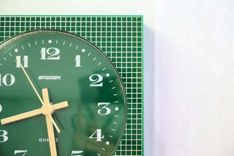 西ドイツ製 STAIGER ヴィンテージ壁時計(緑)