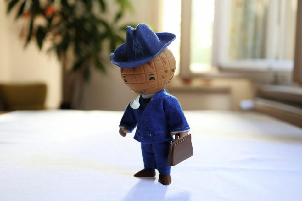 DDR製 ライプツィヒ見本市のレトロなマスコット人形