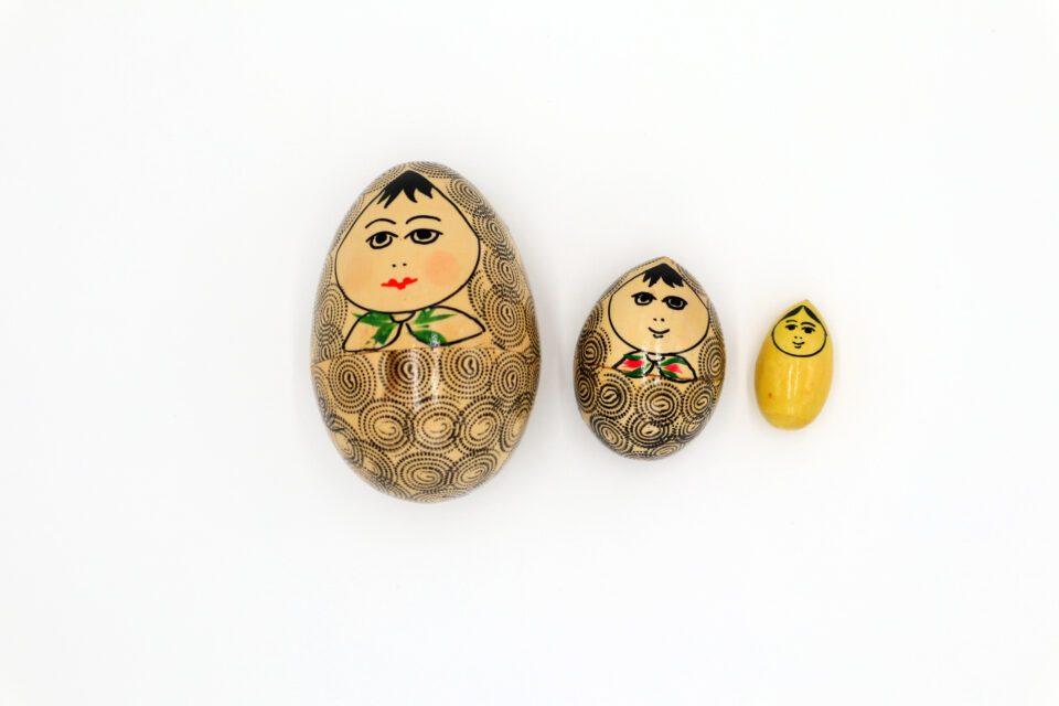 超レア 卵型ヴィンテージマトリョーシカ