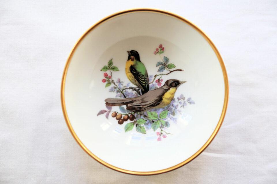 Made in W.Germany 独カイザー社ヴィンテージ陶器小皿(鳥)