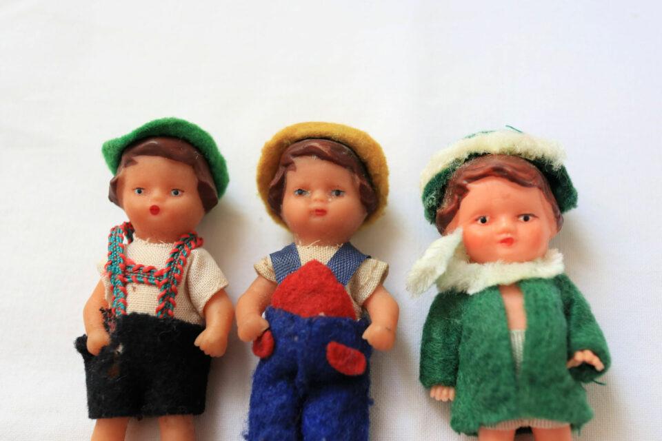 DDR生まれのヴィンテージラバー人形3点セット