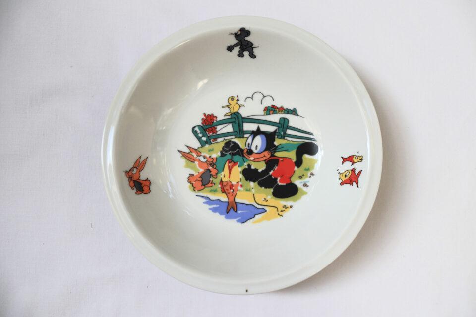 60年代ヴィンテージ Felix The Cat 子供用スープ皿