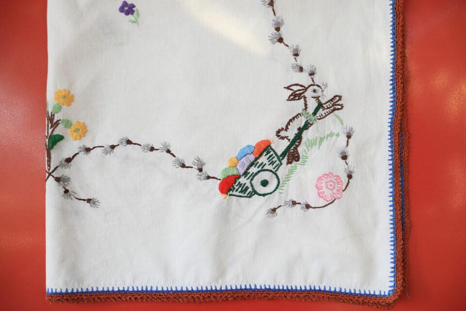 ハンドメイドのぬくもりたっぷり ヴィンテージ刺繍クロス