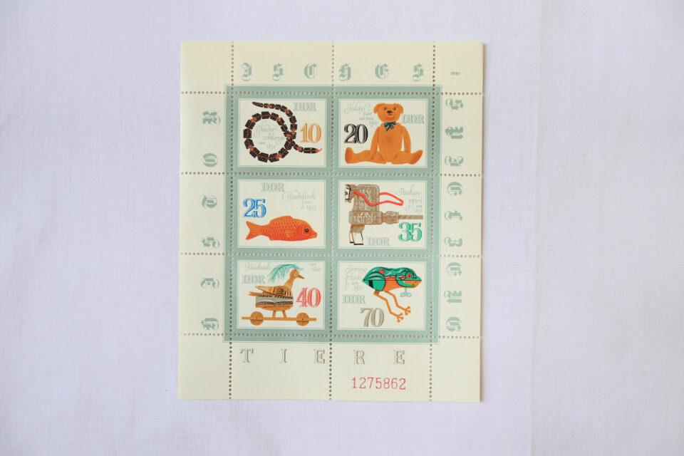 1981年DDR 懐かしオモチャのヴィンテージ切手シート